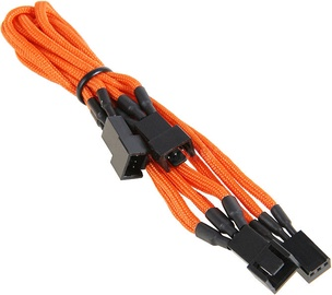 BitFenix 3-Pin to 3 x 3-Pin Splitter for Fans 60cm Orange/Black