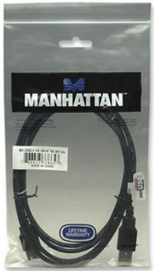 Manhattan Cable USB to USB Black 0.50m