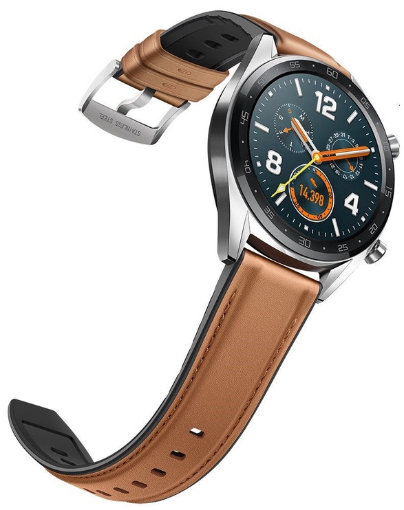 Išmanusis laikrodis Huawei Watch GT, ruda/sidabro