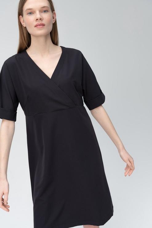 Audimas Light Stretch Fabric Dress Black S