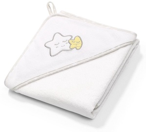 BabyOno Terry Hooded Towel 100x100cm White