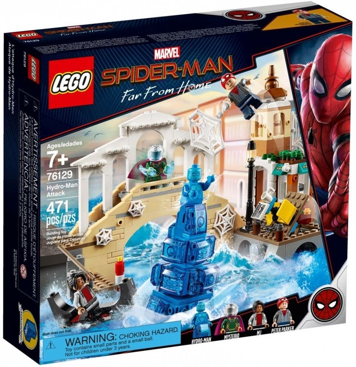 Конструктор LEGO Super Heroes Hydro Man Attack 76129 76129, 471 шт.