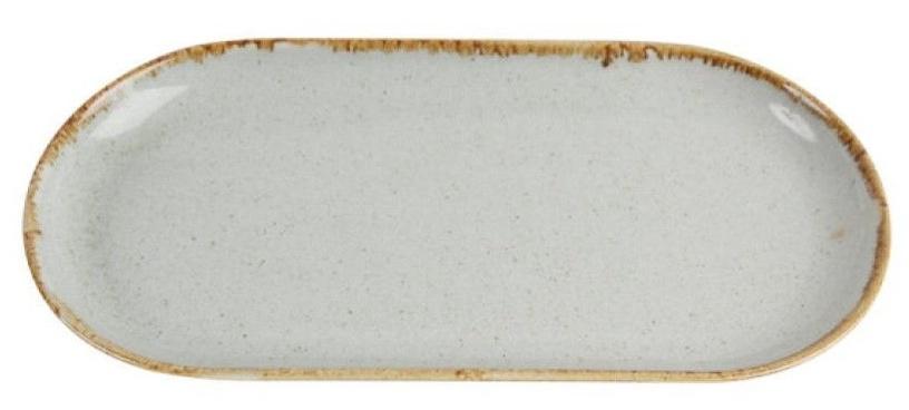 Porland Seasons Oval Plate 15x30cm Grey