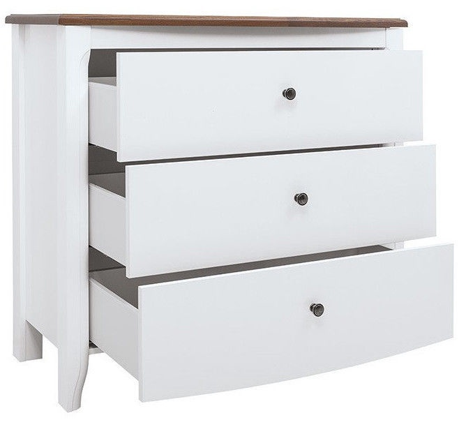 Black Red White Kalio Chest Of Drawers KOM3S White/Brown