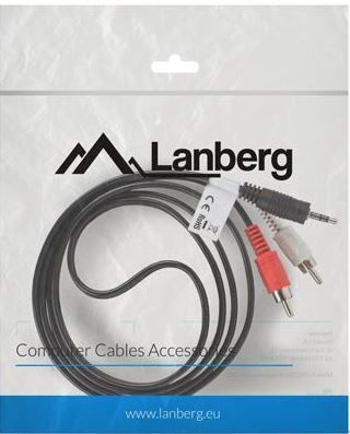Lanberg Cable 3.5mm / RCA x2 1.5m