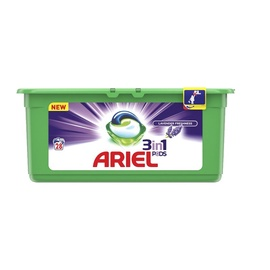 Skalbimo kapsulės Ariel Lavender Freshness 3 in 1, 28 vnt
