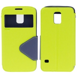 Roar Fancy Diary S-View Book Case For Apple iPhone 6 Plus/6S Plus Light Green/Blue