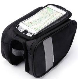 Meteor Torys Bicycle Top Tube Bag With Mobile Phone Pocket Black