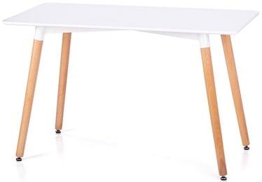 Pusdienu galds Homede Elle, balta/ozola, 1200x800x750mm