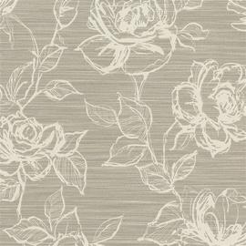 Flizelino tapetai, Rasch, 959239, Maximum XV, pilkos didelės gėles
