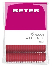 Beter Rollers 6pcs 13mm Pink