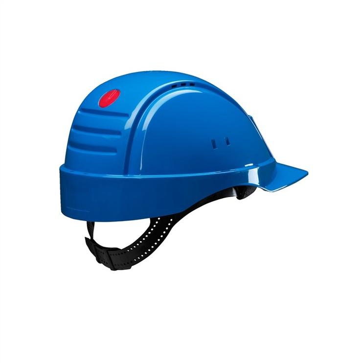 Apsauginis šalmas 3M, su prakaitą sugeriančia juostele, mėlynas, universalus dydis