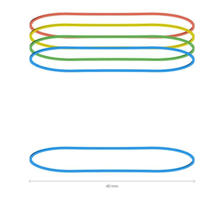 ErichKrause Rubber Bands 40mm 100g
