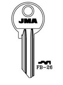 Raktų ruošinys Jma FB-26, 1 vnt.