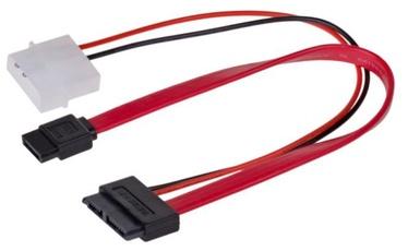 Akyga Adapter Sata+Molex  / Sata 0.2m