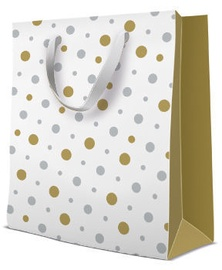 Paw Decor Collection Gift Bag Simple Dots 26.5x13x33.5cm