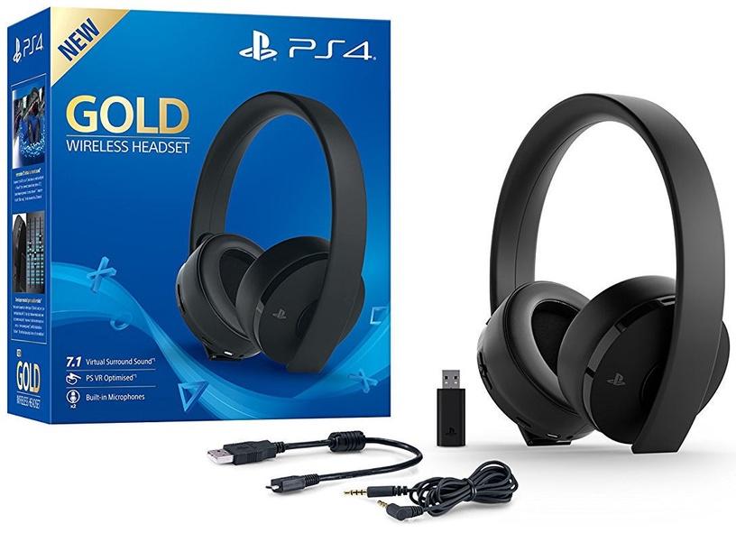 Sony Gold Wireless Stereo Headset 2.0 7.1 V2 Black