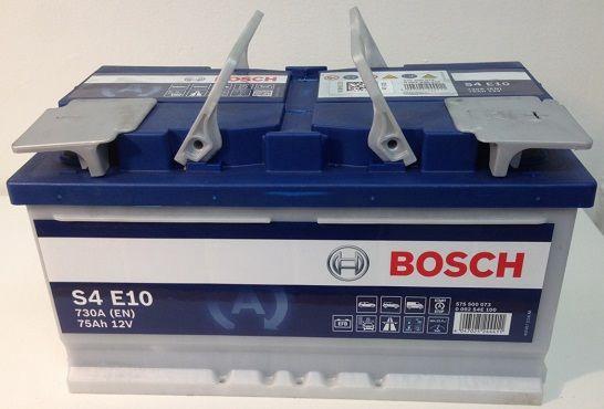 Аккумулятор Bosch EFB S4 E10, 12 В, 75 Ач, 730 а