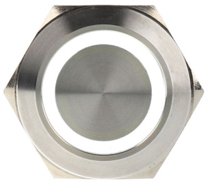 DimasTech Switch Push Button 25mm Silverline White