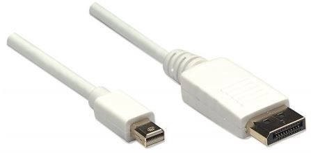 Juhe Manhattan Monitor Cable Mini Displayport to Displayport White 1m