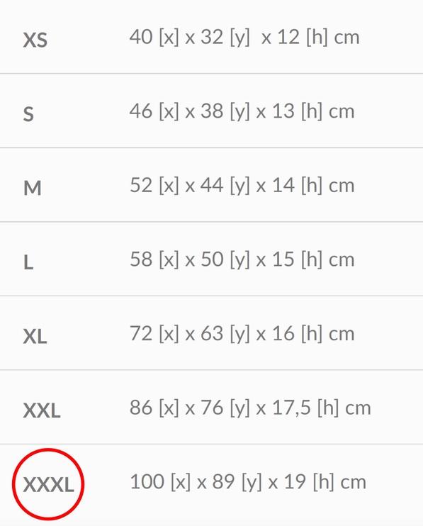 Лежанка Amiplay Basic Oval Bedding XXXL 100x89x19cm Graphite
