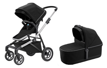 Thule Sleek with Bassinet and Main Seat Midnight Black