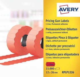 Avery Zweckform Pricing Gun Labels Red RPLP1226