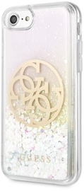 Guess Liquid Glitter 4G Circle Back Case For Apple iPhone 7/8/SE 2020 Transparent