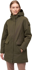Audimas Long Water Repellent Womens Parka Olive Night S