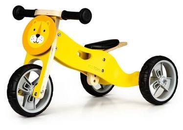 """Balansinis dviratis EcoToys Wooden Balance Bike Lion, geltonas, 8.5"""""""