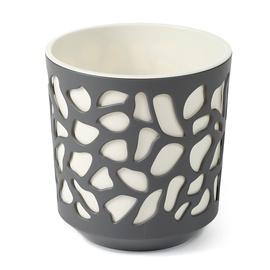 Вазон SN Duet Indoor Plant Pot 19.5x20cm Grey White