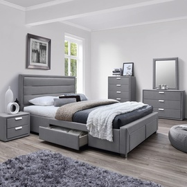 Gulta Home4you Caren + Harmony Delux Grey, 160 x 200 cm