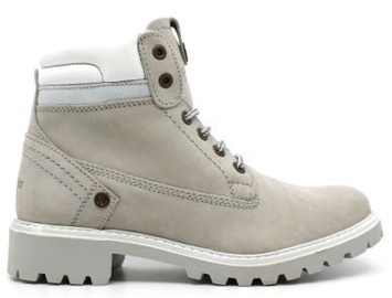 Wrangler Creek Fur Leather Winter Boots Ice Light Gray 39
