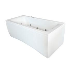 Masažinė vonia Kyma Inga, 170x75x62 cm, akrilas, stačiakampė