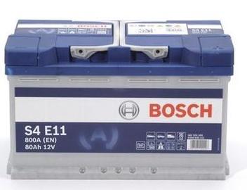 Aku Bosch S4 E11, 12 V, 80 Ah, 800 A