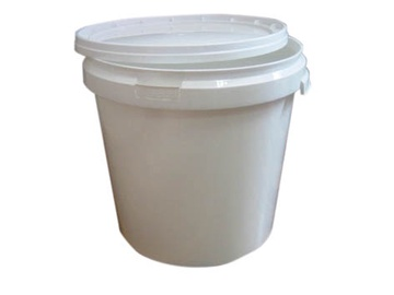 SN Bucket With Lid And Handle 35l White