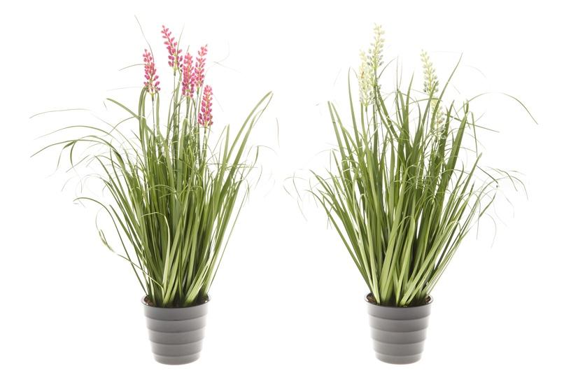 Искусственный цветок 4Living, желтый/зеленый/розовый/серый
