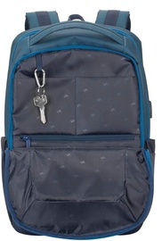 Rivacase Suzuka Laptop Backpack 15.6'' Steel Blue