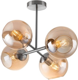Nino Pilar Ceiling Lamp Silver 4x40W E27 61240423