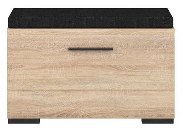 Batų spintelė Black Red White Fever Sonoma Oak, 800x370x500 mm