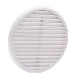 Ventilācijas reste 040976ABS, 8-12,5cm, balta