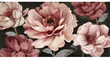 Home4you Oil Painting 70x150cm Pink Flowers