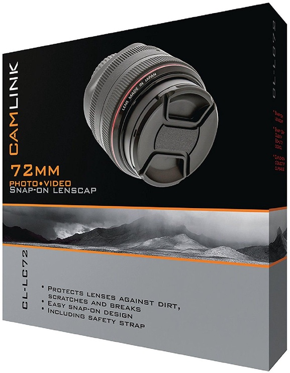 CamLink Snap-On Lens Cap 72mm