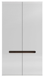 Black Red White Azteca Trio Wardrobe 105x193cm White/San Remo Oak