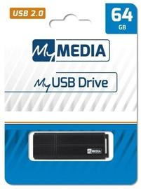 USB-накопитель Verbatim MyMedia, черный, 64 GB