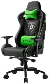 Žaidimų kėdė Sharkoon Skiller SGS4 Black/Green