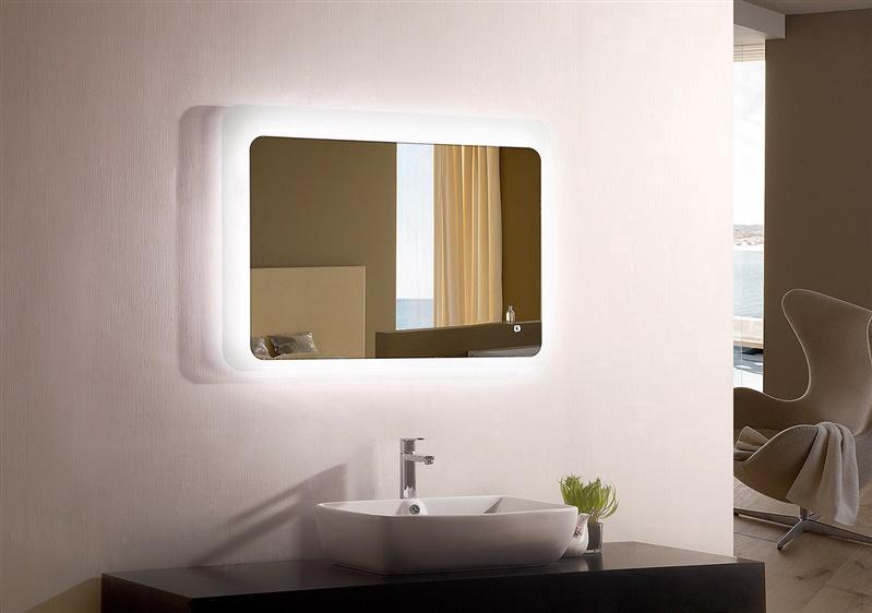 Peegel Masterjero YJ-2521I, valgustusega, riputatav, 90x70 cm