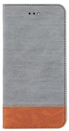 Blun Soft Touch Book Case For Samsung Galaxy J7 J730F Grey