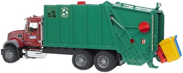 Bruder Mack Granite Garbage Truck 02812 Rubyred/Green