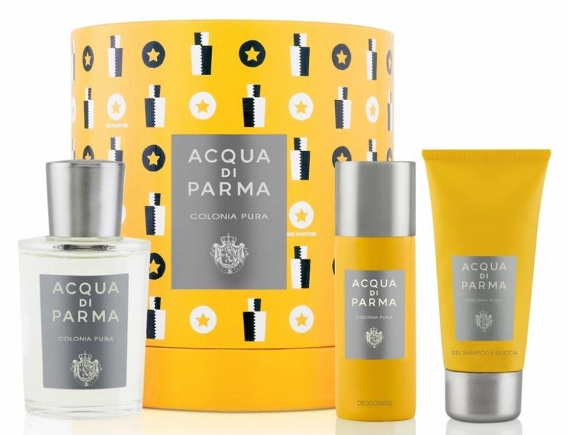 Набор для мужчин Acqua Di Parma Colonia Pura 100 ml EDC + 75 ml Shower Gel + 50 ml Deodorant Spray Unisex